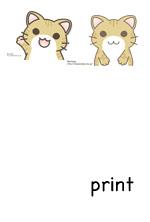猫(茶トラ)印刷用クリップアート