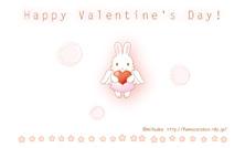 バレンタインカード名刺サイズ【天使うさぎ】
