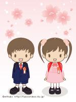 入学式待ち受け画像【小学校/男の子/女の子】