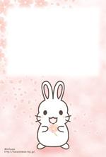 桜(うさぎ:女の子)ポストカード