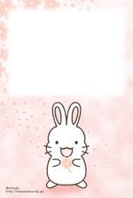 桜(うさぎ:男の子)ポストカード