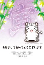 年賀状2010年04(トラ:ホワイトタイガー男の子)